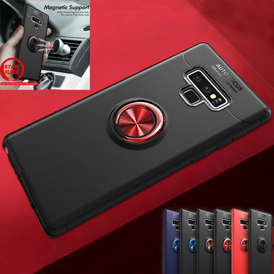 AU4.63 • Buy For Samsung Galaxy Note 9/J6 A6 Shockproof Magnetic Ring Holder Armor Case Cover