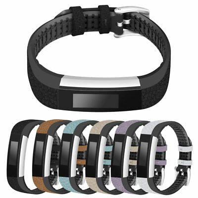 AU31.94 • Buy StrapsCo Pebbled Leather And Rubber Watch Band Strap For Fitbit Alta & Alta HR