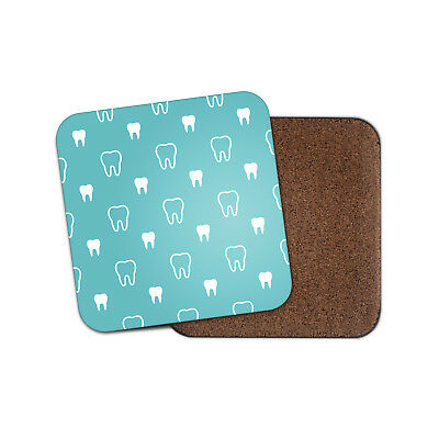 Funny Teeth Coaster - Dentist Dental Nurse Reception Tooth Blue Cool Gift #8664 • 2.99£