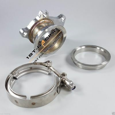 $ CDN81.83 • Buy T3 5 Bolt To 2.5  Conversion Adapter + Turbo Downpipe V-Band Flange & Clamp Kit