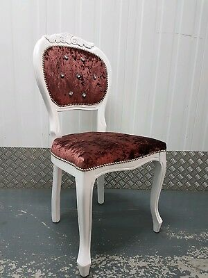 French Louis Style Vintage Deco Boudior Bedroom Chair Antique Shabby Chic Dining • 49.99£