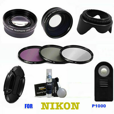 AU194.71 • Buy  Wide Angle Lens +telephoto  Lens + Remote + Hd Filters For Nikon Coolpix P1000