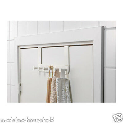 3 Ikea Enudden Over Door 6 Hooks Hanger Knobs White, Clothes, Bags, Coats PUP10 • 23.99£