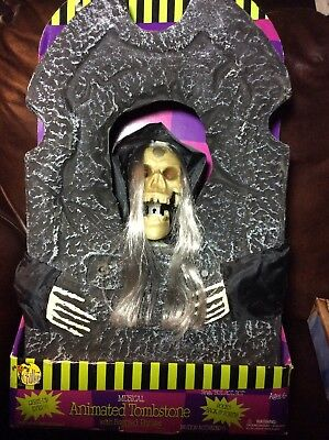 $ CDN44.18 • Buy Collectible Halloween Musical Animated Tombstone Holiday Decorations New!
