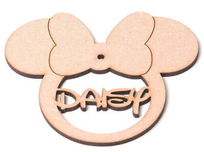 Wooden Personalised Minnie Mouse Bauble Christmas Tree Disney Decoration Gift  • 3.25£