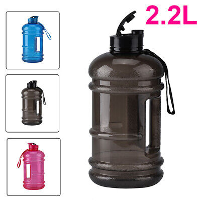 New 2.2L Big Large BPA Free Sport Gym Training Drink Water Bottle Kettle Camping • 9.09£