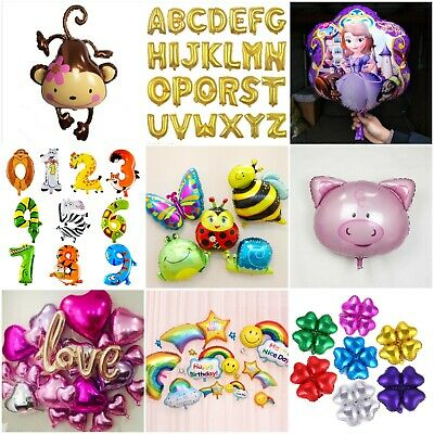 £1.99 • Buy Kids Birthday Balloon Numbers Large Foil Princess Animal Kids Party Decor Supply