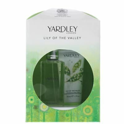 YARDLEY LONDON LILY OF THE VALLEY GIFT SET EDT 50ml + HAND CREAM 50ml SEE DESCRI • 9.99£