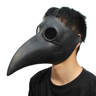 Plague Doctor Bird Mask Long Nose Beak Cosplay Steampunk Halloween Costume Props • 9.99£