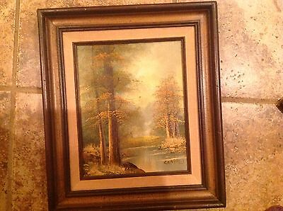 $ CDN301.18 • Buy Vintage Estate Original Oil Painting Cantrell Landscape Woods Painting Signed