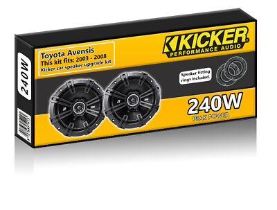 Toyota Avensis Front Door Speakers Kicker 6.5  17cm Car Speaker Kit 240W • 49.99£