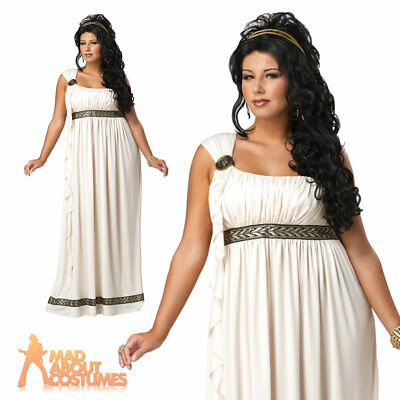 Adult Plus Size Toga Costume Greek Olympic Goddess Ladies Fancy Dress Outfit New • 34.99£
