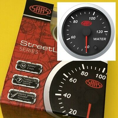 AU57.66 • Buy 52mm Water Temperature Gauge 40-120 Deg C Electric SAAS Street 2  Black SG21220