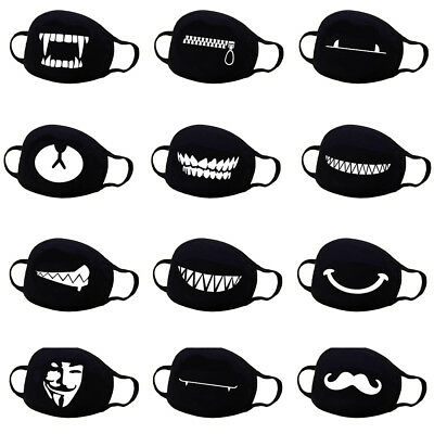 24ded5506 Unisex Cotton Anime Mouth Face Mask Anti-Dust Cycling Respirator Emoji Mask  US • 4.79