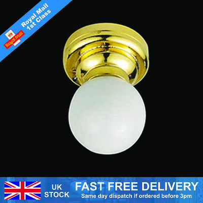 £8.05 • Buy Dolls House Globe Shade Ceiling Light 1/12th Scale (01475)