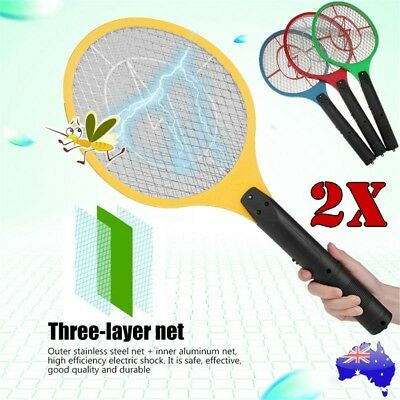 AU14.99 • Buy 2x Bug Zapper Electric Tennis Racket Mosquito Fly Swatter Insect Killer Handheld