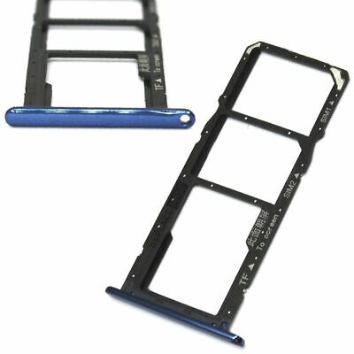 £2.20 • Buy Dual SIM Tray For Huawei Honor 7A Y6 Prime Slot Holder Blue Replacement Card UK