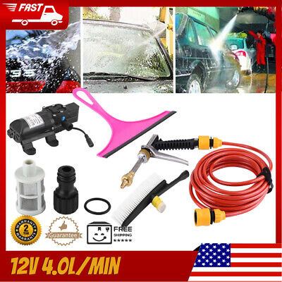 DC 12V 160PSI High Pressure Car Washer Cleaner Water Wash Pump Sprayer Tool US • 24.28$
