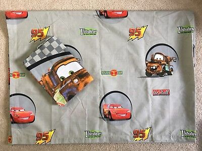 Disney Pixar Cars Kids 2pc Bedding Flat Bed Sheet & Standard Pillow Case NWOP • 15.35£