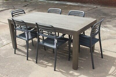 AU1199 • Buy Jervis Bay - 7 Piece Outdoor Setting - Solid Eucalyptus Timber