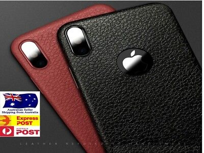 AU6.81 • Buy IPhone XS X 8 7 Plus 6s 6 11 Pro Leather Case Genuine Look Slim Cover Shockproof
