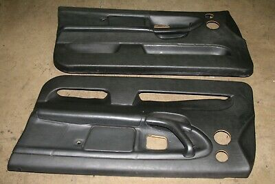 $399.99 • Buy BMW E36 323 325 328 M3 2DR Coupe Convertible Door Panels Cards Black Leather R L