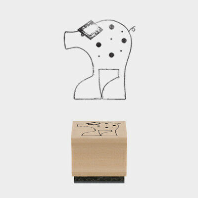 £2.25 • Buy East Of India Rubber Stamp Peggy Pig 2.5 X 3cm Wood Backed New