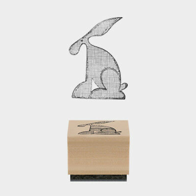 East Of India Rubber Stamp Tilda Hare 2.4 X 3cm Wood Backed New • 2.25£