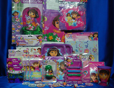 Dora The Explorer Party Set # 36   Cups Invites Banner Tablecover Banner Tattoos • 38.41£