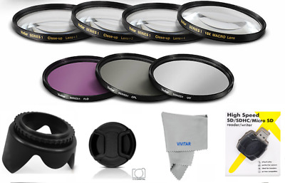 AU75.08 • Buy 77mm Hd Uv-cpl-fld Hd Filter Kit + Macro Lens Kit+usb For  Nikon Coolpix P1000