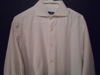 £9.40 • Buy Mark Russell Men's Shirt Sz M White French Cuff Button Up Front Long Sleeve