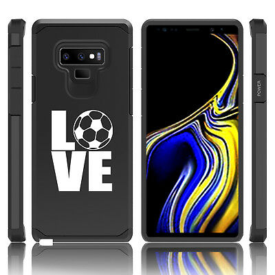 $ CDN19.76 • Buy For Samsung Galaxy Note 8 9 Shockproof Hard Case Cover LOVE Soccer