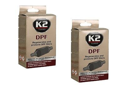 2x DPF K2 REGENERATES AND PROTECTS DPF PARTICULATE FILTERS CLEANER ALL DIESEL • 8.55£