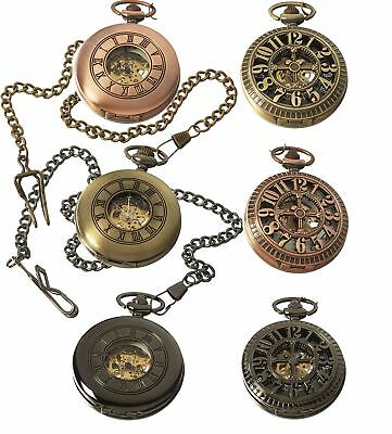 Automatic Mechanical 1920's Peaky Blinders Pocket Watch Vintage Retro • 15.99£