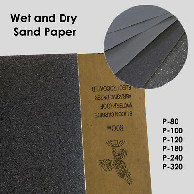 WET And DRY SANDPAPER Grit 80/100/120/180/240/320 GrindingAccessories TopQuality • 3.14£
