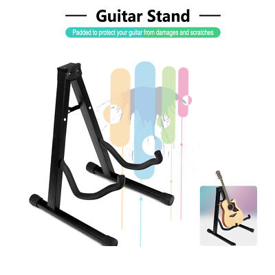 AU17.15 • Buy New Folding Electric Acoustic Bass Guitar Stand Floor Rack Holder Black