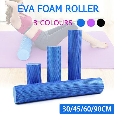 AU10.99 • Buy EVA Yoga Foam Roller Physio Back Training Pilates GYM Home Back Exercise Massage