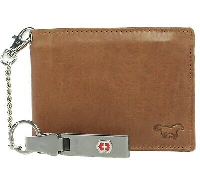 $ CDN44.40 • Buy Safekeepers Leather Men Wallet With Victorinox Chain