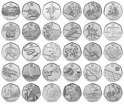 £5.69 • Buy Rare UK London Olympic 2012 50p Coins Fifty Pence Circulated Set Sports Judo