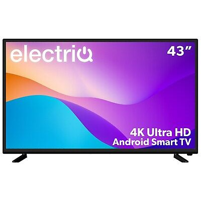 £287.96 • Buy ElectriQ 43 Inch 4K Ultra HD HDR Android Smart LED TV With Freeview HD