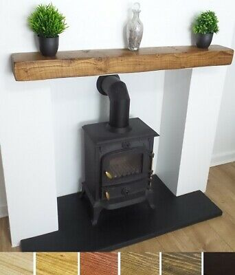 Mantel Shelf Rustic Wooden Beam 6x4 Reclaimed Chunky Solid Pine New • 80£