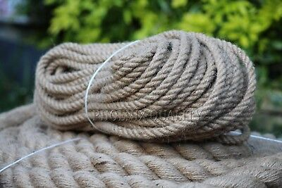 £5.99 • Buy 6mm Thick Natural Jute Hessian Rope Cord Twine Braided Twisted Boating Garden