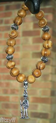 In Car Queens Guard Soldier Pendant Charm & Wooden Beads London GB UK Cavalry • 4.99£
