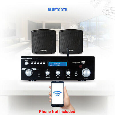 Speaker And Amplifier Home HiFi Stereo Bluetooth Music Sound System (Pair) • 170£