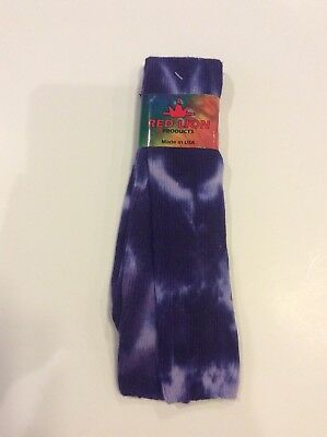 "$6 • Buy Red Lion Purple Tie-dyed Tube Socks Size 9-11 23"" Soccer"