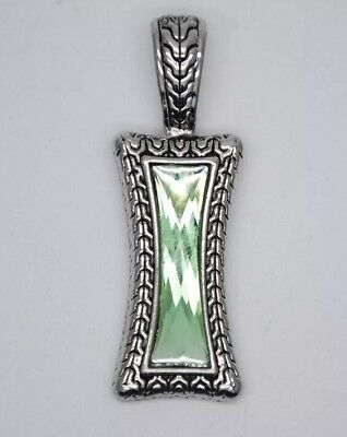 $ CDN12.55 • Buy Lia Sophia Greek Isle Silver Green Pendant Slide- Additional Items Ship Free