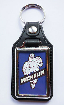 £4.95 • Buy Michelin Man Faux Leather Key Ring/key Fob. Michelin Man Tyres,classic Racing