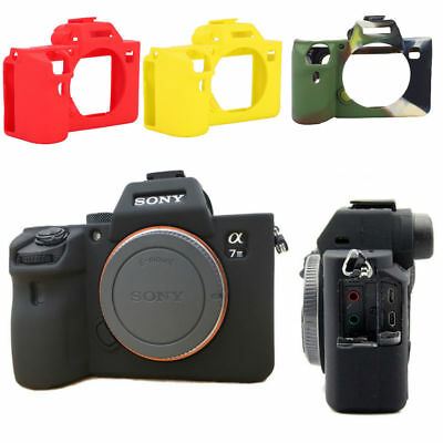 $ CDN16.31 • Buy Soft Silicon Protective Case Skin Frame Cover For Sony A7 III/A7R3/A7 MarkIII
