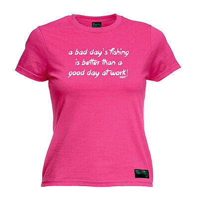 Fishing Tops T-Shirt Funny Novelty Womens Tee TShirt - A Bad Days Fishing Is Bet • 11.96£