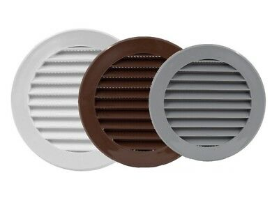 Round Air Vent Grille With Flange And Fly Screen Circle Ventilation Duct Cover • 4.99£